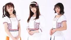 「YUMEADO EUROPE」の真メンバー・Chinatsu、Yukino、Nagisa。